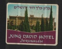 Hotel label luggage labels baggage ISRAEL very RARE #15